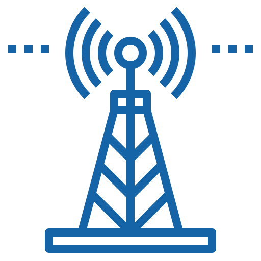 icon radio tower broadcasting