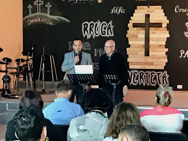 Dr Sala speaking in Eastern Europe