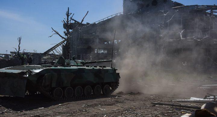 Ukraine Civil War Tank Ruins